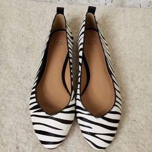 NWT UGG Lynley Zebra Flats